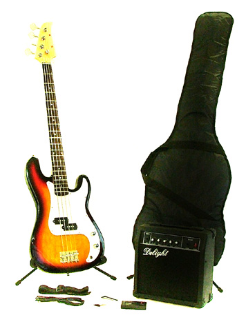 Fortissimo Sunburst Bass Guitar Starter Pack