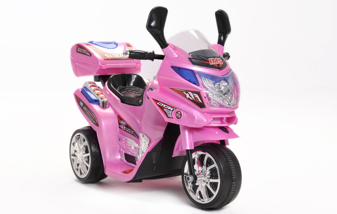 Electric Toy Cars For Girls : Girls pink v wheel motorbike battery kids ride on cars