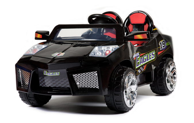 12v zweisitzer hypercar schwarz elektroauto f r kinder. Black Bedroom Furniture Sets. Home Design Ideas