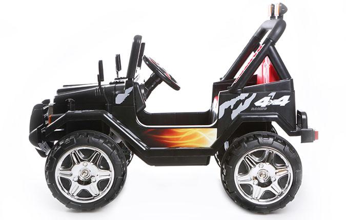 12v zweisitzer 4x4 schwarz elektroauto f r kinder. Black Bedroom Furniture Sets. Home Design Ideas