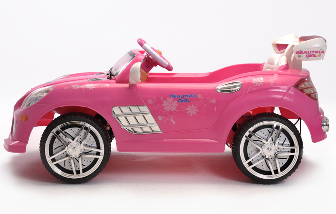 Electric Toy Cars For Girls : Girls pink v mercedes style battery kids ride on cars