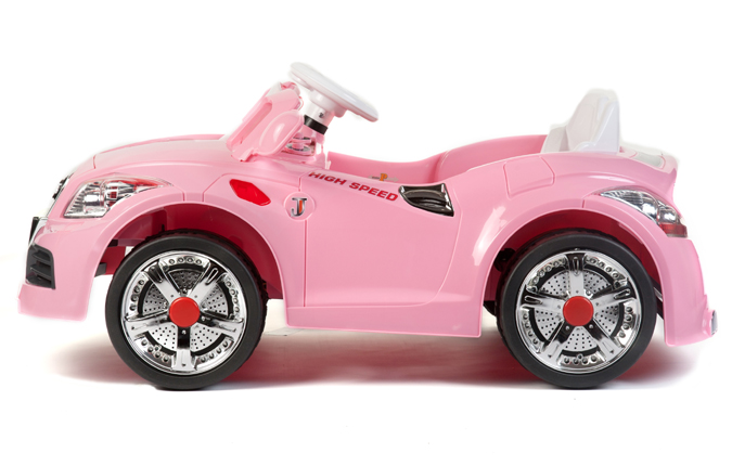 Electric Toy Cars For Girls : Girls pink v coupe roadster battery kids ride on cars