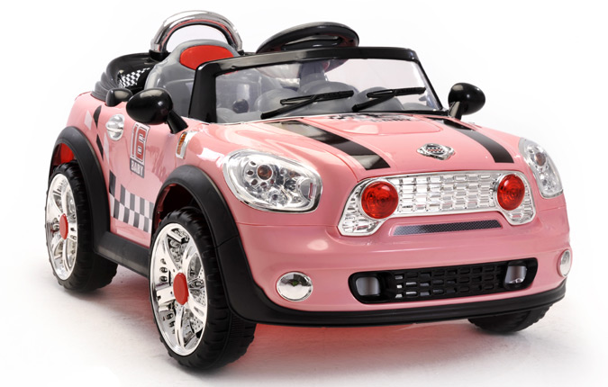 Electric Toy Cars For Girls : Girls pink v mini style battery kids ride on cars