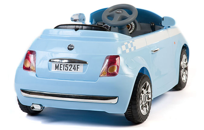 blue 6v fiat 500 style battery kids ride on cars electric. Black Bedroom Furniture Sets. Home Design Ideas