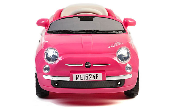 Electric Toy Cars For Girls : Girls pink v fiat style battery kids ride on cars