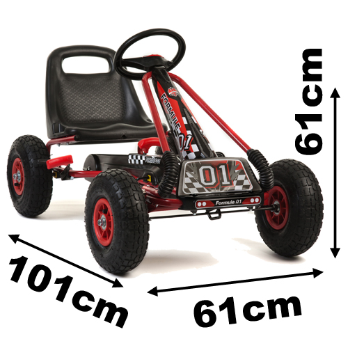 black pedal go kart with rubber wheels a15 k