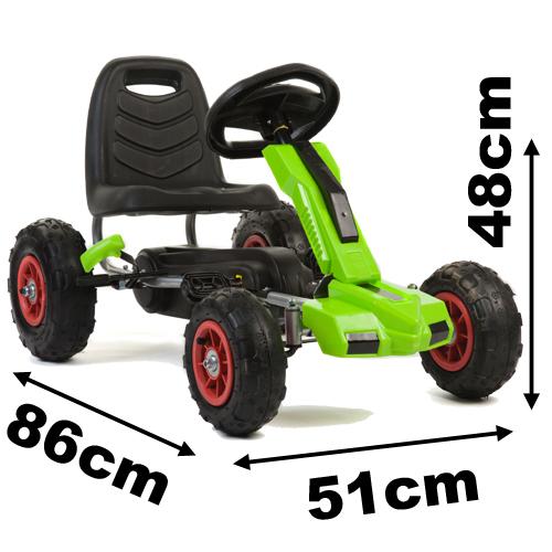 rubber wheel pedal go kart f648 1